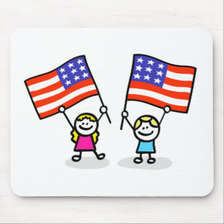 happy american children independence day mouse pad