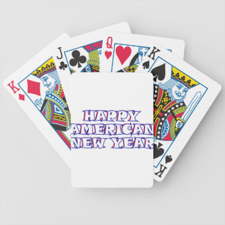 Happy American New Year Bicycle Playing Cards