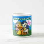 Happy and Blessed Easter Classic White Coffee Mug