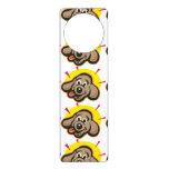 Happy and bright dog face cartoon door hanger