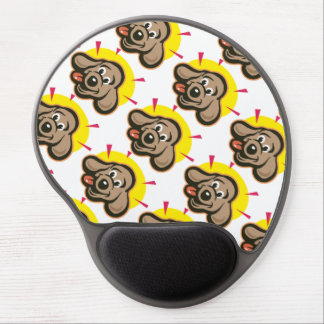 Happy and bright dog face cartoon gel mouse pad