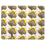 Happy and bright dog face cartoon journals