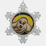 Happy and bright dog face cartoon ornament