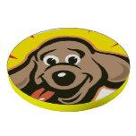 Happy and bright dog face cartoon poker chips set