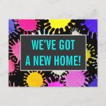[ Thumbnail: Happy and Fun New Home Postcard ]