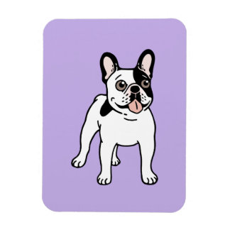 Happy and Fun Single Hooded Pied Frenchie Magnet
