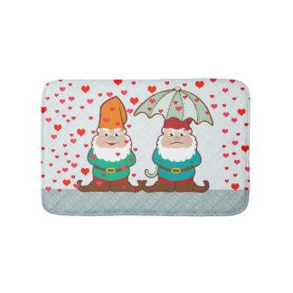 Happy and Grumpy Gnomes Bathroom Mat