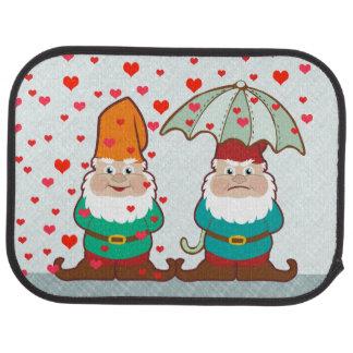 Happy and Grumpy Gnomes Car Mat
