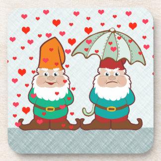 Happy and Grumpy Gnomes Drink Coaster