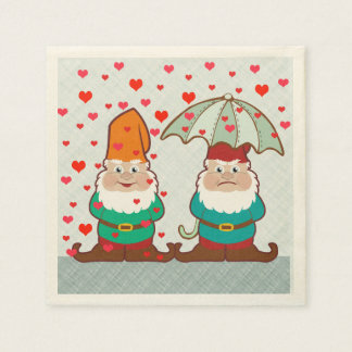 Happy and Grumpy Gnomes Napkin