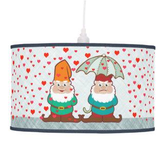 Happy and Grumpy Gnomes Pendant Lamp