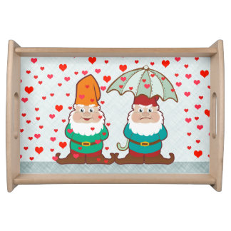 Happy and Grumpy Gnomes Serving Tray