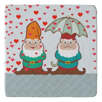 Happy and Grumpy Gnomes Trivet