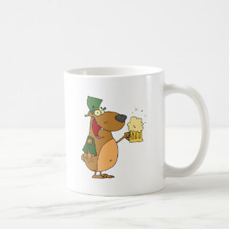 Happy And Intoxicated Bear In Green Coffee Mug