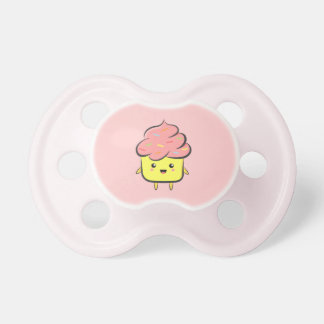 Happy and Kawaii cupcake with colorful sprinkles Pacifier
