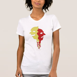 Happy and sad faces abstract art cool t-shirt