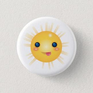 Happy and Smiley Cartoon Sun Face Button