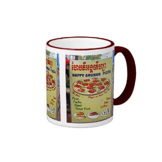 Happy Angkor Pizza Sign Ringer Mug