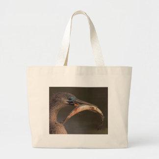 Happy Anhinga Large Tote Bag