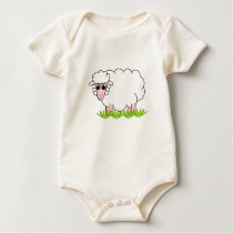 Happy Animal - Snowie White Sheep Baby Bodysuit