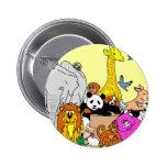 Happy Animals 2 Inch Round Button