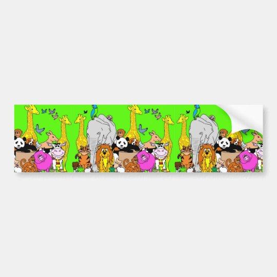 Happy Animals Bumper Sticker