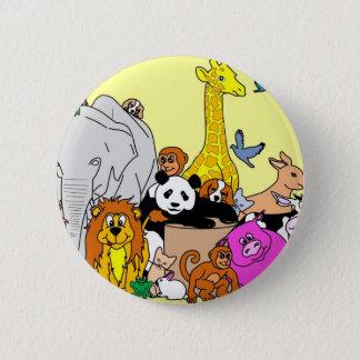 Happy Animals Button