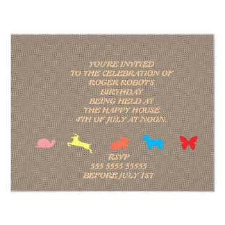 Happy animals invitations