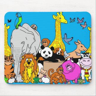 Happy Animals Mouse Pad