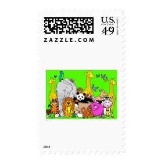 Happy Animals Postage
