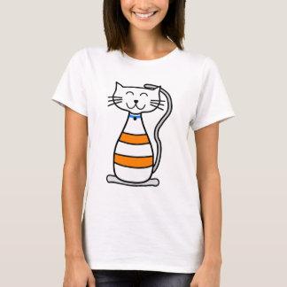 Happy animated cartoon cat illustration T-Shirt