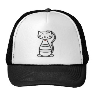 Happy animated cat mesh hats