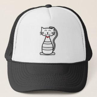 Happy animated cat trucker hat