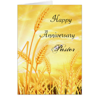 Happy Anniersary Pastor Card
