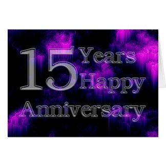 Wedding Gift 15 Years : Happy Anniversary 15 Years (wedding anniversary) Card