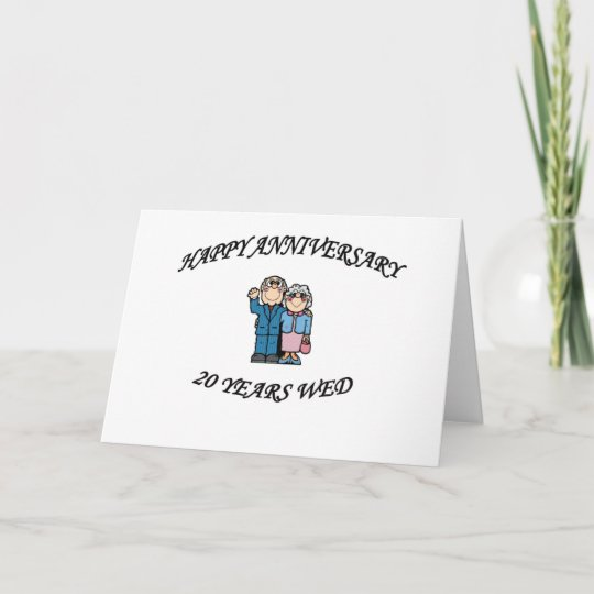 happy anniversary 20 years card