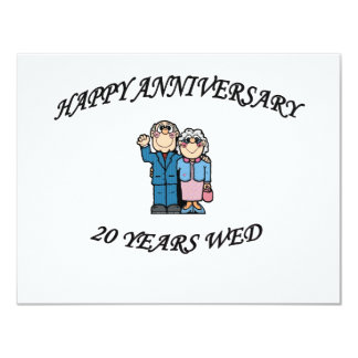 HAPPY ANNIVERSARY 20 YEARS CARD