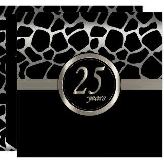 Happy Anniversary 25 Years Card