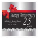 Happy Anniversary 25 Years Personalized Invitation