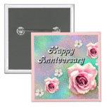 Happy Anniversary 2 Inch Square Button