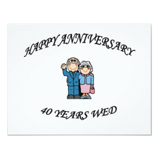 HAPPY ANNIVERSARY 40 copy Card