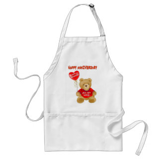 HAPPY ANNIVERSARY ADULT APRON