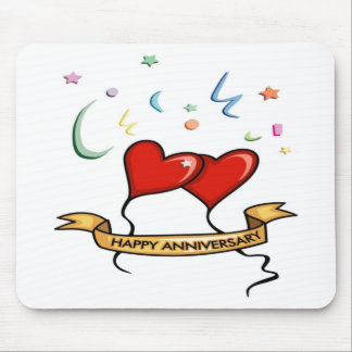 Happy Anniversary and Heart balloons Mouse Pad