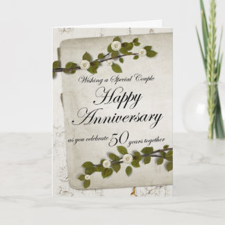 Happy Anniversary as you Celebrate 50 Years Togeth Card