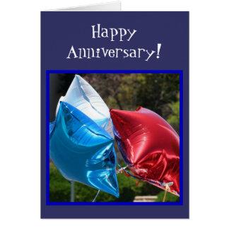 Happy Anniversary Balloons greeting card