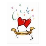 Happy Anniversary Banner Postcard