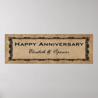 Happy Anniversary Banner Type Poster