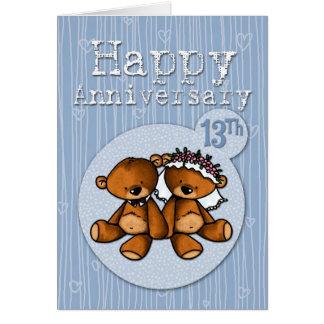 happy anniversary bears - 13 year card