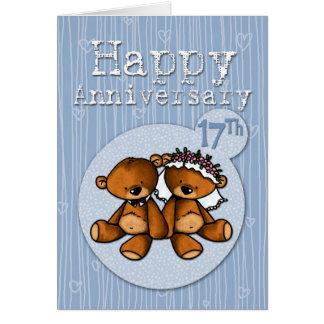 happy anniversary bears - 17 year card