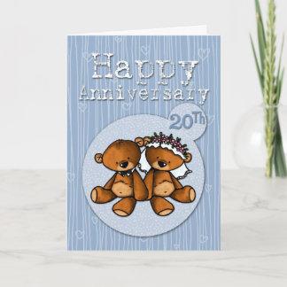 happy anniversary bears - 20 year card